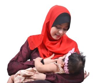 Mom breastfeeding child
